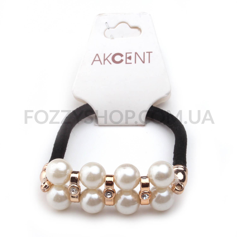 Резинка для волос Akcent с бижутерным элементом GB1640