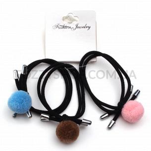 Набор резинок для волос с украшением, 3 шт.