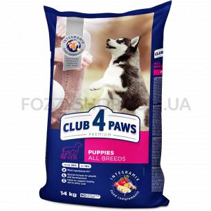 Корм для щенков Club 4 Paws с высоким содержанием курицы сухой