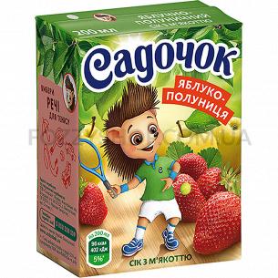 Сок Садочок яблочно-клубничный