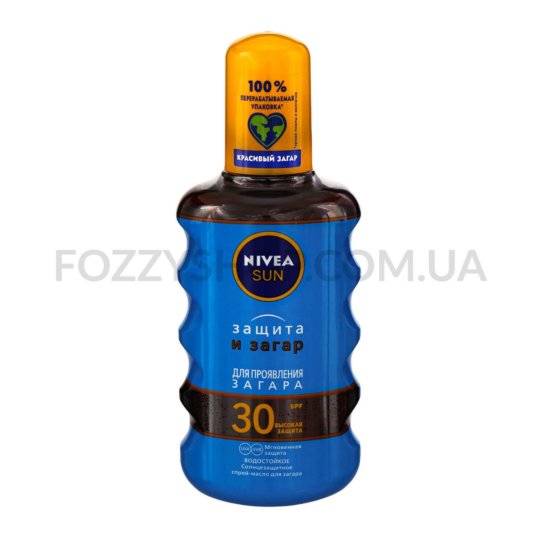 Масло солнцезащитное Nivea Защита и загар SPF 30