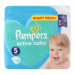 Подгузники Pampers Active Baby Junior 11-16кг