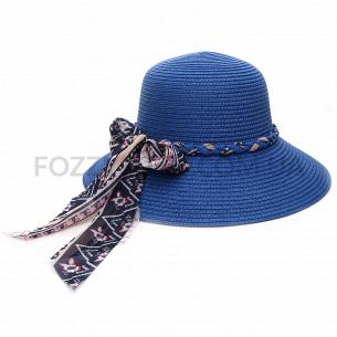 Шляпа женская голубой 58см