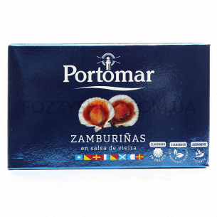 Гребешки морские Portomar в томатном соусе виера