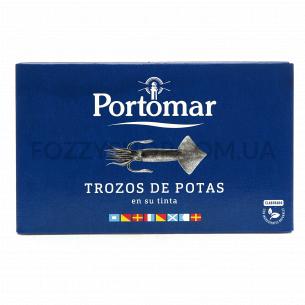 Кальмар Portomar кусочками в собственных чернилах