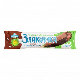 Мороженое Злакомка овсяное, шоколадное, ароматическое в кондитерской глазури