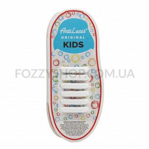 Шнурки AntiLaces Kids силиконовые белые 38мм