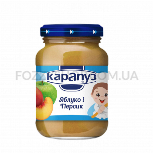 Пюре Карапуз яблуко-персик