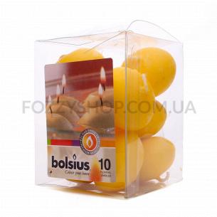 Набор свечей Bolsius плавающих желтых 10шт