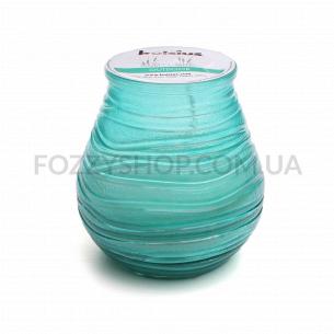 Свічка Bolsius Патіо лайт колір води в склі94/91мм