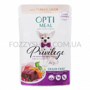 Корм для собак Optimeal малих порід індичка-печінку желе