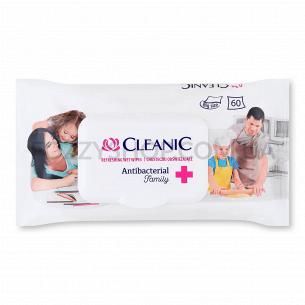 Салфетки влажные Cleanic Family антибактериальные, клапан