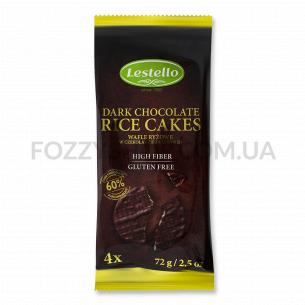 Хлебцы Lestello рисовые покрытые черным шоколадом