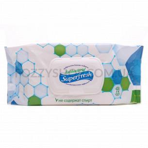Салфетки влажные Superfresh антибактериальные с клапаном