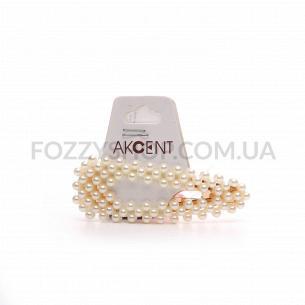 Заколка для волос Akcent Клик с жумчужинками силикон G3008z