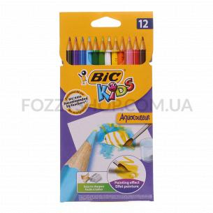 Карандаши BIC Aquacouleur Kids 12 цветов