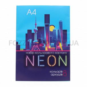 Картон кольоровий Тетрада Family Line Неон А4