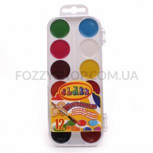 Фарби акварельні Class медові 12 кольорів 7616