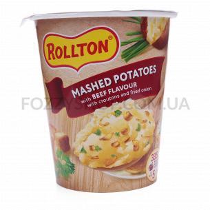 Пюре Rollton картофельное со вкусом говядины, стакан