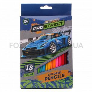 Олівці кольорові Yes! Street racing 18 кольорів