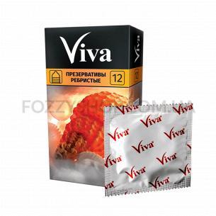 Презервативи Viva ребристі...