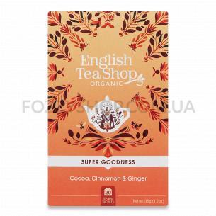 Суміш English Tea Shop какао-кориця-імбир органічна