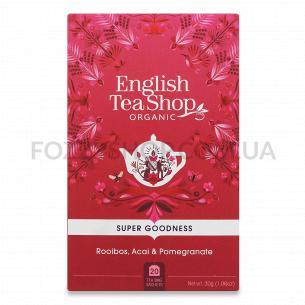 Чай English TeaShop Ройбуш з асаї і гранатом органічний