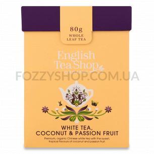 Чай белый English Tea Shop кокос-маракуйя органический + ложка