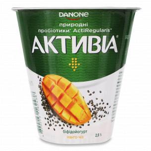 Бифидойогурт Активиа манго-чиа 2.5% стакан