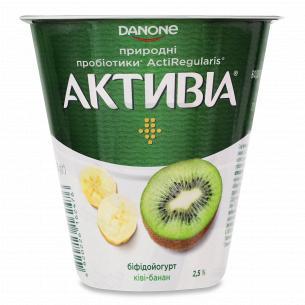 Бифидойогурт Активиа киви-банан 2.5% стакан