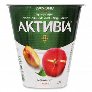 Бифидойогурт Активиа персик 2.5% стакан