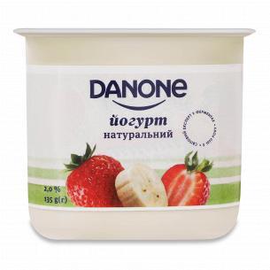 Йогурт Danone полуниця-банан 2% стакан