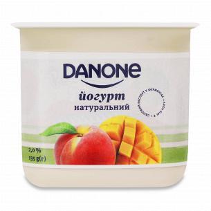 Йогурт Danone манго-персик 2% стакан