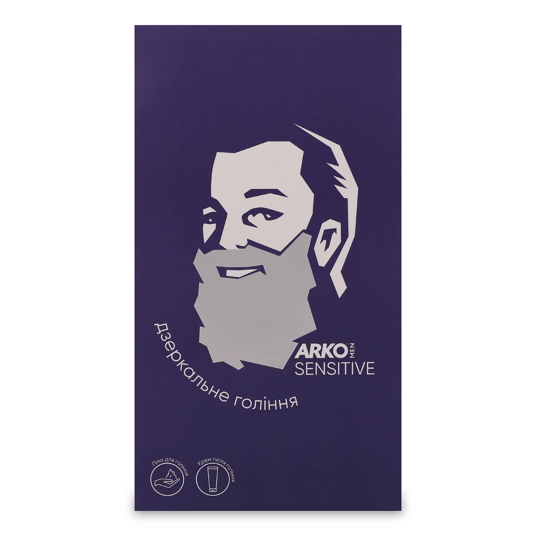 Набор ARKO Men Sensitive: пена для бритья 200мл + крем после бритья 50мл