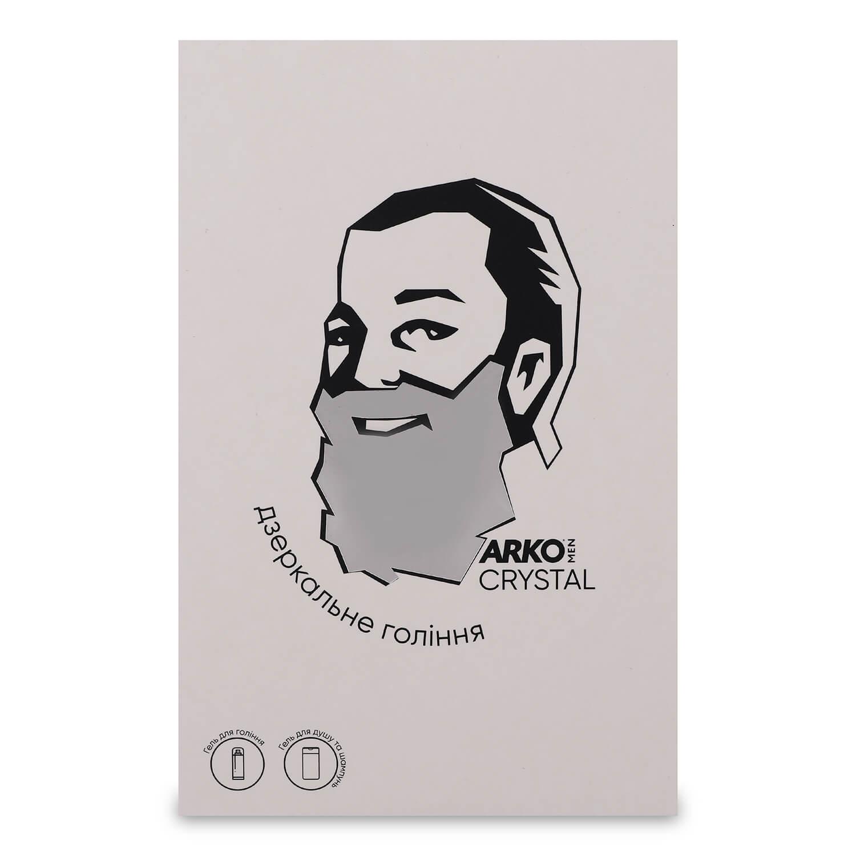 Набор ARKO Men Crystal: гель для бритья и умывания 200мл + гель для душа и шампунь 2в1 260мл