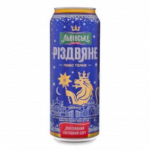Пиво Львівське Рождественское темное ж/б