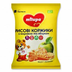 Коржики Milupa рисовые с морковью и яблоком
