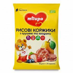 Коржики Milupa рисовые с грушей и ягодами