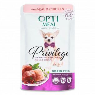 Корм для собак Optimeal Privilege телятина-курка соус