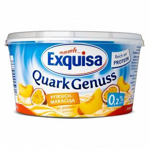 Десерт творожный Exquisa персик-маракуйя 0,2%