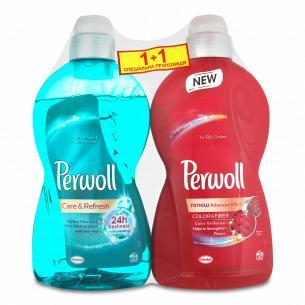 Засіб для прання Perwoll для кольорових речей + догляд і освітлюючий ефект