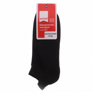 Шкарпетки чоловічі Extra! спортивні напівмахрові чорні р.25-27