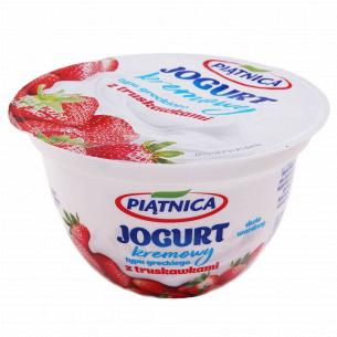 Йогурт Piatnica типу Грецький полуниця 4%