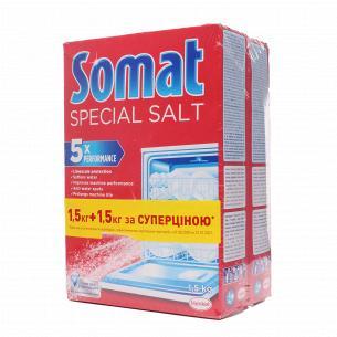 Сіль для посудомийних машин Somat Duo 3-дії