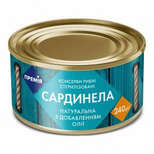 "Сардинелла ""Премія"" натуральная с добавлением масла № 5 ж/б"
