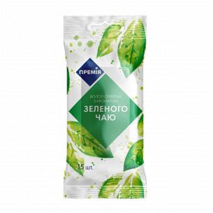 Салфетки влажные Премія Зеленый чай
