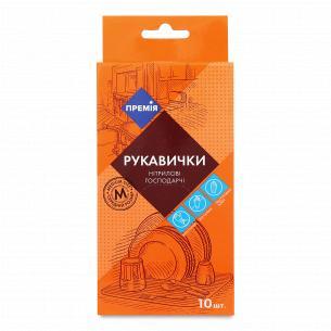 """Перчатки одноразовые """"Премія"""" нитриловые M"""