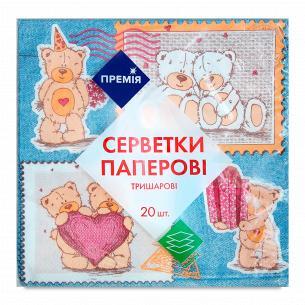 "Салфетка ""Премія"" с рисунком №2 3-слойная"
