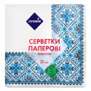 "Салфетка ""Премія"" с рисунком №3 3-слойная"