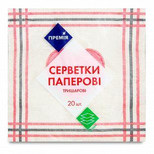"Салфетка ""Премія"" с рисунком №4 3-слойная"
